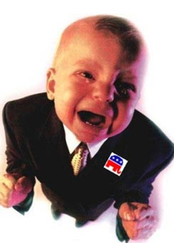 crying gop baby