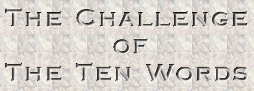 Challenge of Ten Words Writing