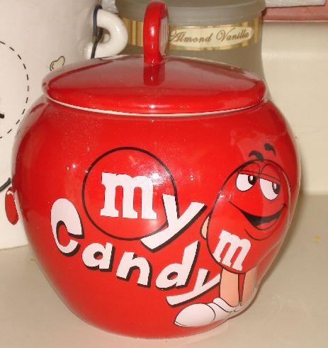 M & Ms Candy Jar