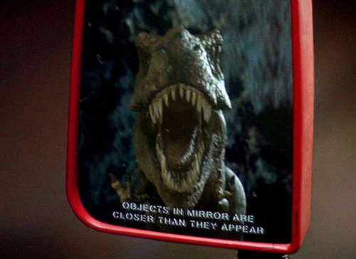 T Rex in Mirror