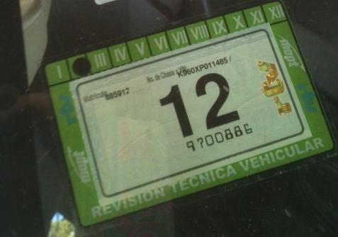 RTV Window Sticker revison technica vehicular