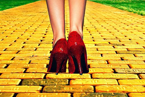 yellow brick road ruby stilletos