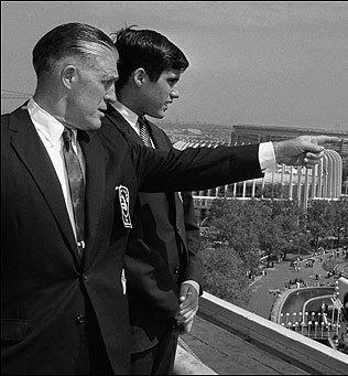 George and Mitt Romney at World's Fair