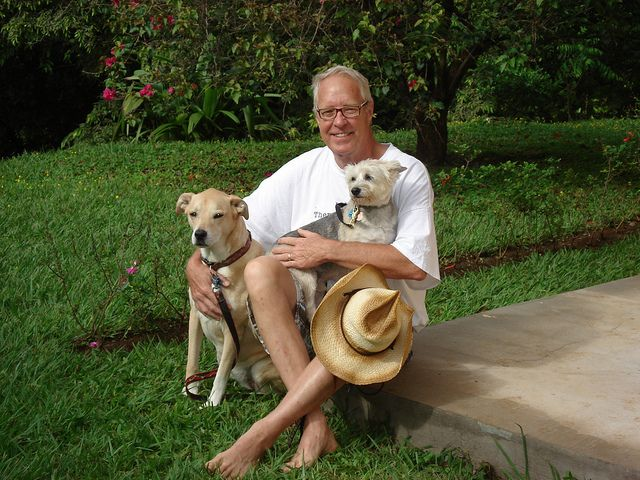 Me, Sedona and Derby shortly after arriving in Costa Rica.